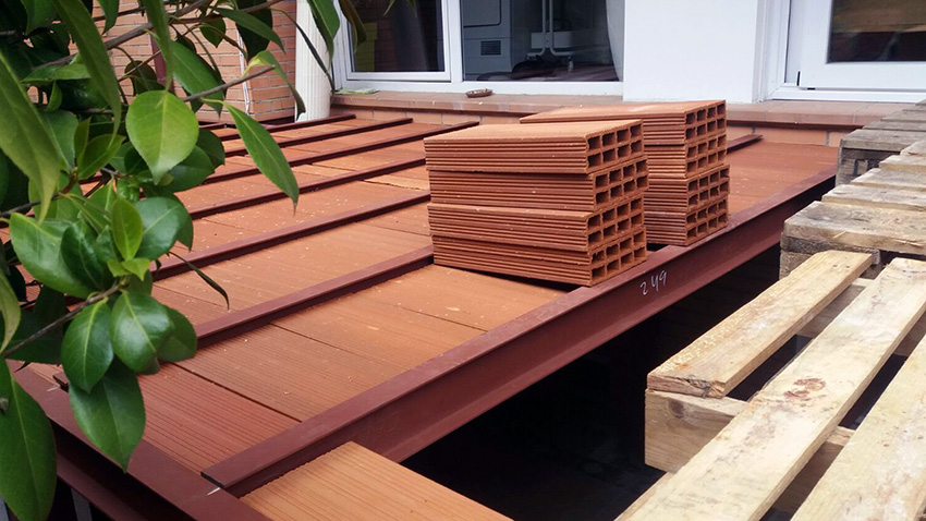 Construcción de terraza en vivienda